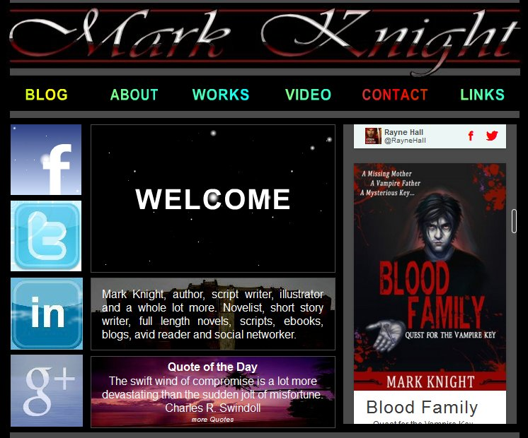 Mark Knight Author Website