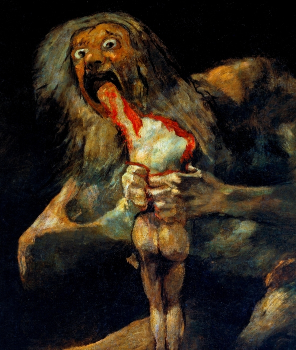 Saturn Devouring His Son by Francico Goya